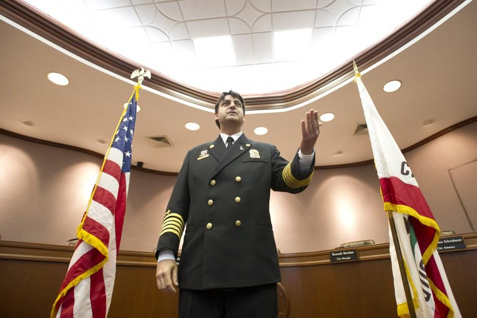 New Lodi Fire Chief Larry Rooney sworn in