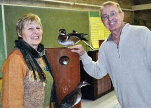 American Association of University Women members learn about wood duck nesting boxes