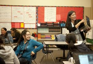 Parents study English, computer skills at Joe Serna Jr. Charter School