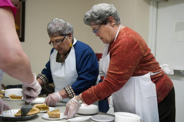 Thanksgiving Day lunch at the Salvation Army in Lodi