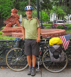 Lodi Community Band's Bobby Miner crosses country alone on bicycle