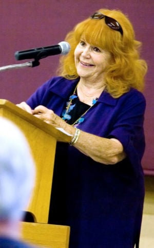 PAWS Founder Pat Derby Dies Of Cancer: Pat Derby, founder of the Performing Animal Welfare Society, speaks to the Lodi Rotary Club in 2009. Derby died of cancer on Friday, Feb. 15, 2013.  - News-Sentinel file photograph
