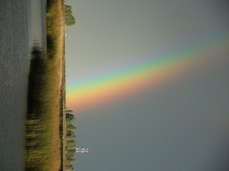 Rainbow over the Delta