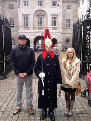 Greg and Tori Lauchland visit Buckingham Palace