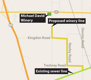Michael David Winery hopes to connect wastewater line to White Slough plant