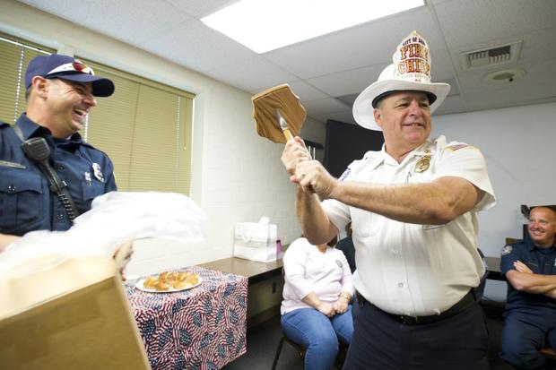 Lodi firefighters wish outgoing chief Kevin Donnelly good luck