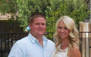 Justin Steiger and Janalle Rhoades were engaged in April