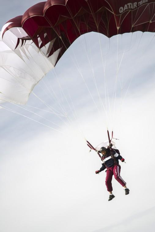 Skydiving team from Qatar trains at Lodi Parachute Center