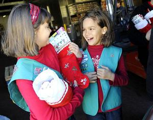 Local Girl Scouts fill stockings for Christmas