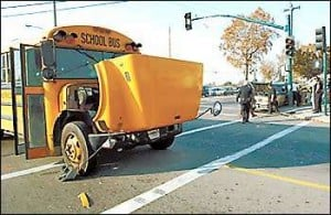 School bus, SUV collide at Lodi intersection