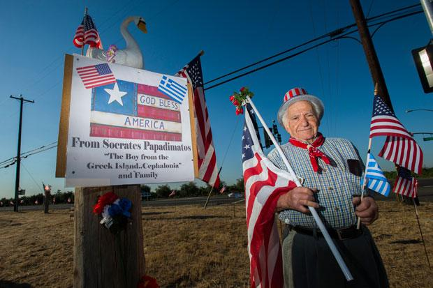 Lodi man shows his patriotism