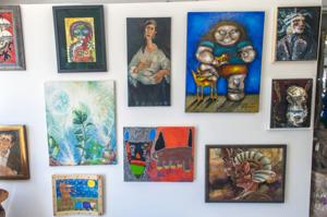 Grand opening of Capt. Mike's Outsider Art Gallery