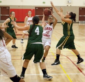 Lodi Flames falter in varsity girls basketball league opener