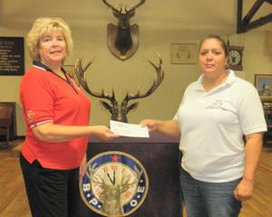 Lodi Elks presents check to Grace and Mercy Charitable Foundation