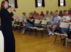 Assemblywoman Alyson Huber talks to Lodi Citizens in Action about taxes, immigration