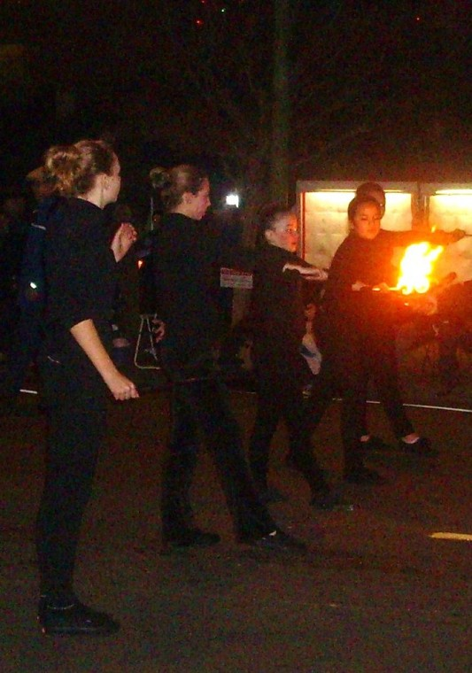 Fire Twirlers Lodi Parade of Lights