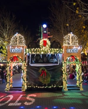 Parade Lights Up Lodi: The Lodi Electric Utility float during the 17th annual Parade of Lights in Downtown Lodi on Thursday, Dec. 6, 2012.  - Dan Evans/News-Sentinel