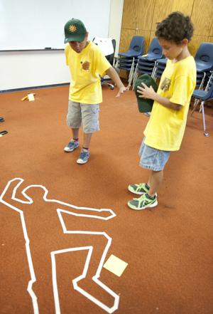 Lodi scouts learn to fight crime at forensics camp