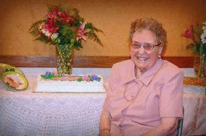 Lodi's Frances Cross Celebrates Her 100th Birthday: Frances Faires-Cross celebrated her 100th birthday in August with a party at Temple Baptist Church. - Photo by Courtesy Photograph