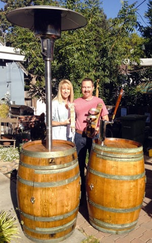 Wine barrels 'Re-Invinted' at the Lodi Street Faire