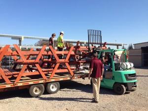 Lodi Rotary Club delivers tables and benches to Needham school