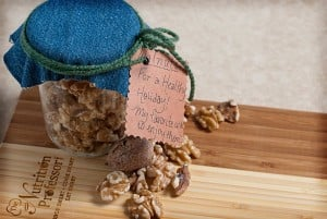 Celebrate health and local harvest by gifting jars of walnuts