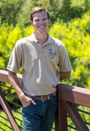 Outreach coordinator Kyle Bowlin shares volunteer opportunites at Cosumnes River Preserve