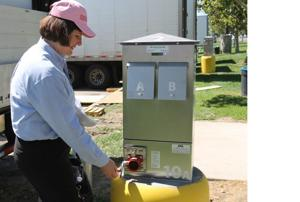 New Flag City electric hookups save money, help environment