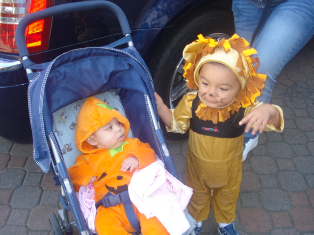 David and Angela Trick or Treating