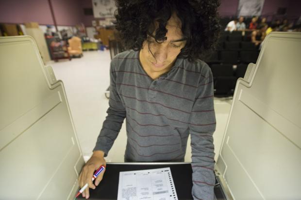 Galt High School students cast their votes