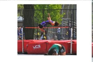 Tokay High Jumper: Tokay High School varsity high jumper Gino Prieto.