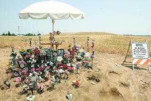 Crash victim's family told to remove memorial in Clements