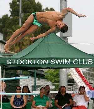 Carson Guendert makes a splash in diving for St. Mary's High School