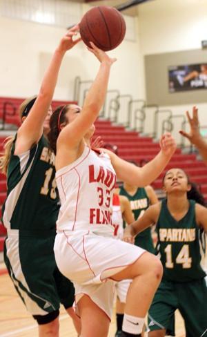Grace Davis beats Lodi in varsity girls basketball