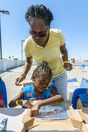 World of Wonders Science Musuem volunteer Jim Pyers inspires children with Solar Day