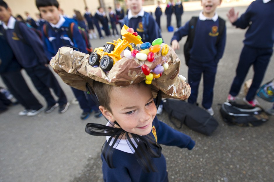 Molly Thurlow, 5, marches in St. Annes School parade founded by her grandmother