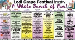 Lodi Grape Festival schedule (PDF, 5.5MB)