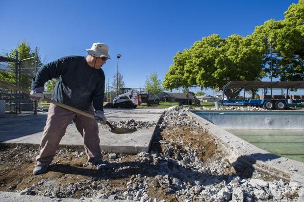 Repairs underway at Blakely Pool