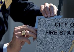 Freemasons hold cornerstone ceremony for new Lodi fire station