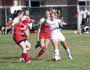 Lodi boots Beyer in girls soccer opener