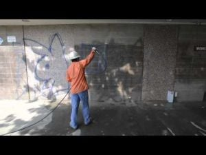 Removing Graffiti at Legion Park