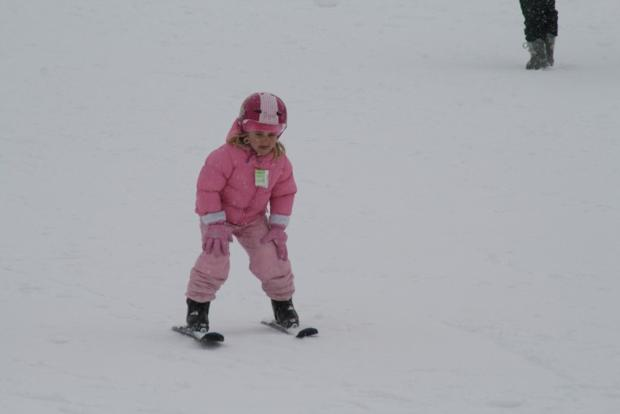 Abby's first time skiing