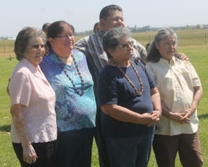 Portion of Hicksville Cemetery dedicated to Native Americans in the area