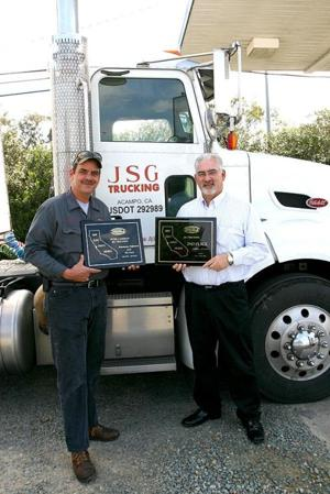 Safety first: JSG Trucking in Acampo wins industry awards