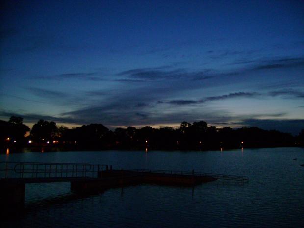 Lodi Lake at dusk