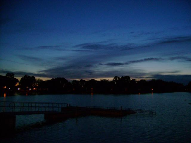 Lodi Lake at dusk