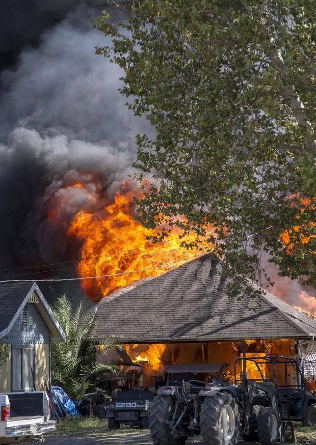 Massive blaze destroys Lodi-area home