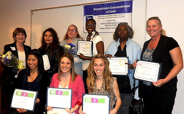 Lodi Soroptimist awards night honors women, girls