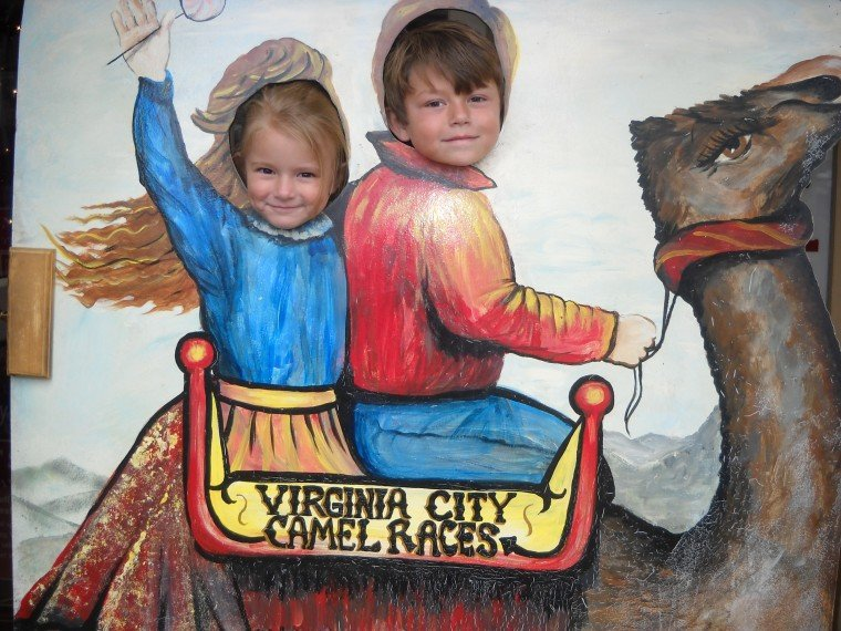 Hunter and Sierra in Virginia City