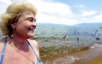 Lodi woman returns to scene of her historic swim